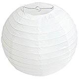 Demarkt 10pcs Lampion Papier Blanc Lanterne Papier Boule pour Décoration de Mariage Maison Fête etc