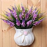 DSAAA Panier en bois de fleur artificielle lavande Tenture murale Accueil mariage fleurs floral décoratif tableau,Violet un