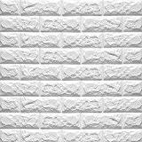 Eizur 3D Imitation Brique Stickers Muraux Papier Peint Home Decor Autocollants étanches Amovible Stéréoscopique Décorations pour TV Fond Chambre Restaurant ...
