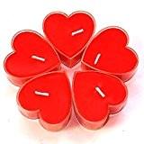 Ericoy 18PCS Saint-Valentin bougie en forme de coeur Bougies parfumées romantiques lumières de(rouge)
