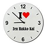 """Exclusif Idée Cadeau: Verre Montre """"I Love Zen Hakko Kaï"""" un Excellent cadeau vient du Coeur- Regarder- Ø20 cm- Idées ..."""