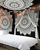 """exclusif """"Noir Blanc ombré Tapisserie par Raajsee"""" Ombre Parure de lit, Mandala Tapisserie, Queen, Multi Couleur indien Mandala Décoration murale ..."""