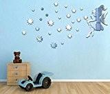 Extsud Auotcollants Stickers Fée Étoile Sticker Mural Miroir Décoration Murale pour Garderie Chambre de Bébé Enfant Salon etc