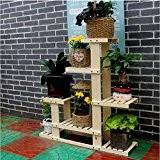 FAFZ Porte-fleurs, étagère à étages à plusieurs étages, salon étagère en bois, chêne vasque, salon étagère intérieure anti-corrosion ( Couleur ...