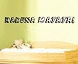 """Fashion Base DIY décoratif cadeau """"Hakuna Matata Sticker mural Motif Le Roi Lion chanson Nom enfants Chambre de Living Room ..."""