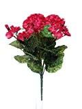 Faux géranium rose artificiel Cerise en grappe 9 bouquet floral