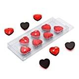 First4magnets F4MHEART Paquet de 7 Aimants en forme de cœur  ? 20  x 8 mm Rouge