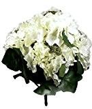 Fleur artificielle Bouquet Hortensia Blanc 38 cm visuel et toucher comme du vrai