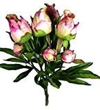 Fleur artificielle Bouquet Pivoine Rose 4 pce de 46 cm visuel et toucher comme du vrai