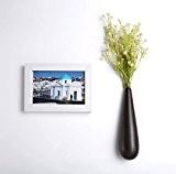flintronic Lot de 3 Vase Déco en Céramique Suspendu, Forme de Goutte d'Eau pour Plantes Fleurs Décoration de Jardin Maison