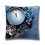 FlowerArtC5405-Popular Zippered Cushion Cover Happy Throw Pillow Cover 18 x 18 Pillow Sham-Black Friday Selling 2015