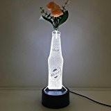 FWEF Bouteille De Vin Led Vase Lampe De Vision Stéréo Colorée 3D Night Light Gift Lampe De Table