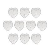 Generic 10pcs Photophores en Plastique Clair Moule à Bougie Forme de Coeur pr Fabrication de Bougie
