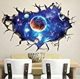 geniales Creative 3D Espace fissuré Stickers muraux PVC amovible Art Autocollant pour Salon Chambre enfants Chambre Decor 60* * * ...