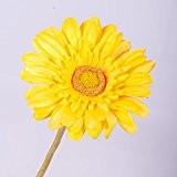 Gerbera artificiel, jaune, 60 cm, Ø 11 cm - fleur artificielle / gerbera plastique - artplants