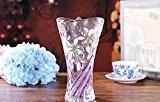 GHOME IDEAS Transparent Avec Crystal Vases En Verre Matériaux Ornements Artisanaux Violet Et Grandes 30Cm