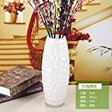 GHOME IDEAS Vase En Verre Moderne Minimaliste Blanc