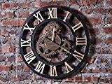Global- Style rétro loft industriel Montres de vitesse et des horloges des ménages horloge murale tenture murale, décoration de la ...