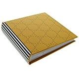 Goldbuch Album Off Line, Taille 17x 16,5cm, pour 100photos 10x 15cm, Impression sur toile, noir/blanc/jaune Album 200 Fotos jaune