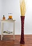 Grand Vase Décoratif 75 cm, Bois du manguier, Rouge