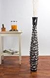 Grand vase décoratif, bois - 90cm (noir)