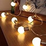 Guirlande Lumineuse 10 Mini Ampoules Rondes Opaques à LED 1,50 Mètre à Piles