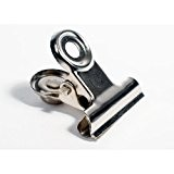 HAB & GUT (MC30201) Pince à dessin, 6 clips magnétiques avec aimant ultra puissant en néodyme, chromé