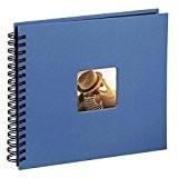 Hama Album photo Fine Art, 50 pages noires (25 pages), album à spirales 36 x 32 cm, avec découpe pour ...