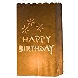 Happy Birthday 10 x Sacs à bougie papier lanterne lampe luminaire blanc - Décoration pour fêtes, mariages, anniversaires par Kurtzy ...
