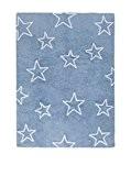 Happy Decor Kids hdk-215Tapis lavable Stars, blu-bianco, 120x 160cm