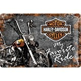 Harley-Davidson My favorite Ride - Plaque en métal 20 x 30 cm