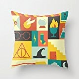 Harry Potter Colorful Decorative Pillows Zippered Pillowcase/Taies d'oreillers 16x16 (two sides) Popular Star Pillow case/Taies d'oreillers Cover