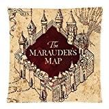 Harry Potter Marauders Map (Carte du Maraudeur) Vintage Taie d'oreiller Housse de coussin