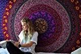 Hippie Mandala Tapisserie Tenture de fleurs en coton Tapestry décorative de mur indien Par Rajrang