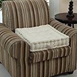 Homescapes Coussin rehausseur crème pour chaise ou fauteuil (50 x 50 x 10 cm). Coton 100 %