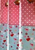 Homescapes – Une Paire de Rideaux Tout Faits 100% Coton – Oiseaux et Fleurs – Rouge Rose Bleu - 117 ...