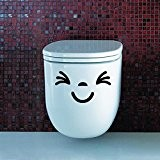 Humour Humoristique en vous plissez souriant visage yeux Siège de toilette Couvercle Poster autocollants Stickers papier peint mural Art Decor ...