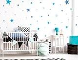 I-love-Wandtattoo Sticker mural avec ce kit de 10099Chambre Sticker mural étoiles bleues pour garçon à coller Sticker mural mural décoratif