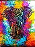 Indien Tapisserie, arc-en-ciel Tie Dye éléphant Tapisserie Tapisseries mur éléphant Psychédélique Hippie mur tapisserie tapisseries bohème tapisseries, Tapisserie indienne, Hippie ...
