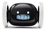 """Itian LCD Réveil Digital qui s'enfuit """"Catch Me If You Can"""" Horloge Alarme avec Roues(Noir)"""