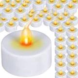Jago - Lot de 96 Bougies Chauffe Plat LED à Pile Sans Flamme Ø 3,8 cm (Quantité au Choix)