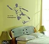 Jeu de Football Anglais Lettres Sticker Home House Sticker mural amovible Cuisine Salon Salle à manger Chambre Art Papier Peint ...