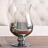 JHDH2-Vase américain haut argenté dégradé transparent en verre,A