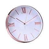 """Jinberry 12"""" (30cm) Minimaliste Silencieuse Rond Pendule Murale avec Cadre Super Mince / Horloge Analogique Moderne Classique, sans Tic Tac ..."""