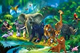 Jungle Animaux Papier Peint de Photo – Safari Tableau mural - XXL Jungle Déco mural chambre d'enfant papier peint