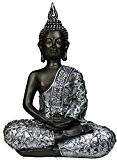 khevga Statue de Bouddha assis 30cm Figurine décorative