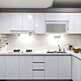 KINLO 0,61 x 5M Autocollant PVC auto-adhésif armoires de cuisine / porte/meubles/Mur - Gris