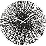 Koziol 2328526 Silk Horloge Murale Matière Thermoplastique Noir 3,5 x 44,8 x 44,8 cm