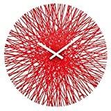 Koziol 2328536 Silk Horloge Murale Matière Thermoplastique Rouge Transparent 3,5 x 44,8 x 44,8 cm