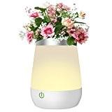 Lampe de Chevet LED, 2 en 1 Vase Décorative avec 3 Modes Commutateur Tactile, Idéal comme une Veilleuse et Vase ...